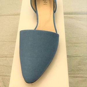 J. Jill D'Orsay Flat - Blue Linen